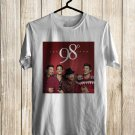 98 Degrees Christmas 2017 White Tee's Front Side by Complexart
