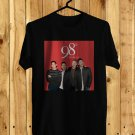 98 Degrees Christmas 2017 Black Tee's Front Side by Complexart z1