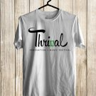 Thrival Music Fest Logo Sept 2017 White Tee's Front Side by Complexart
