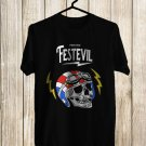 Them Evil Fest Logo 2017 Black Tee's Front Side by Complexart z1