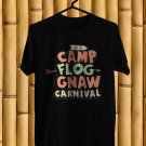 Camp Flog Gnaw Music Fest Logo 2017 Black Tee's Front Side by Complexart