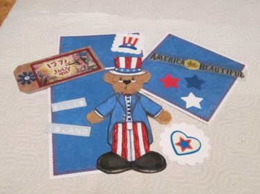 America The Beautifu Tear Bear a- Mat Set