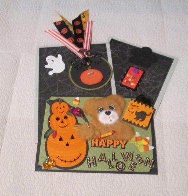 Happy Halloween Tear Bear a - Mat Set