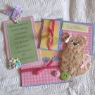 Hugs and Kisses Cancer Tear Bear Girl c1 - Mat Set