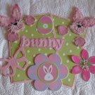 Pink Bunny Peekers c4 - Mat Set