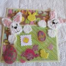 White Bunny Tear Bear Peekers c4 - Mat Set