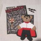 Happy Halloween Dracula Tear Bear a - Mat Set