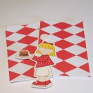 Picnic Girl Hamburger a5 - MME - Mat Set