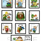 Going Fishing Kids - 10 piece set