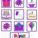 Happy Birthday Purple - 10 piece set