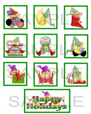 Happy Holidays Elf - 10 piece set