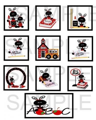 Ladybug ABC - 10 piece set