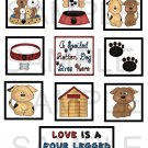 Love Is A Four Legged - 10 piece set