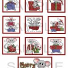 Merry Christmas Mice - 10 piece set