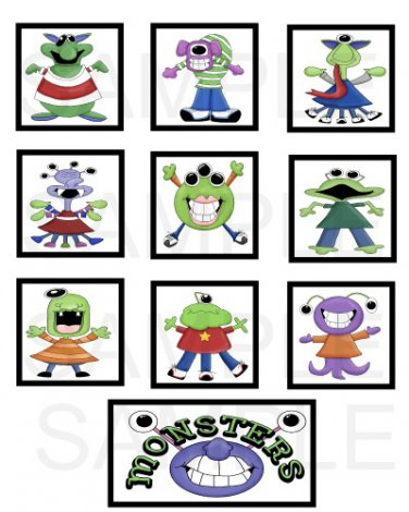 Monsters - 10 piece set