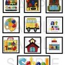 School 2 - 10 piece set
