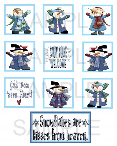 Snowflakes Are Kisses - 10 piece set