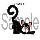 Black Cat Left - Printed Paper Piece