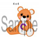 Rainbow Bear Orange Right - Printed Paper Piece