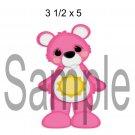 Rainbow Bear Pink Left - Printed Paper Piece