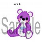Rainbow Bear Purple right - Printed Paper Piece