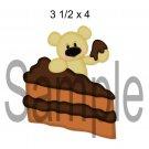 Chocolate Cake Bear right -  Printed Paper Piece