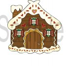 Gingerbread House -  Printed Paper Piece