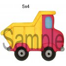 Dump Truck right -  Printed Paper Piece
