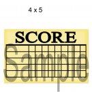 Mini Golf Score Card -  Printed Paper Piece