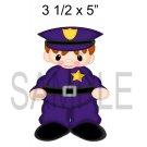 Policeman -  Printed Paper Piece