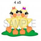 Spring Chicks -  Printed Paper Piece