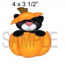 Pumpkin Cat -  Printed Paper Piece