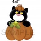 Pumpkin Cat a -  Printed Paper Piece