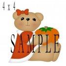 Pumpkin Girl -  Printed Paper Piece