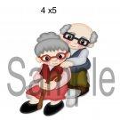 Grandma and Grandpa left -  Printed Paper Piece