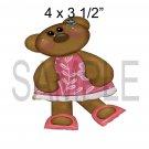 Girl Bear 2 -  Printed Paper Piece