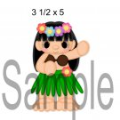 Hawai Girl right -  Printed Paper Piece