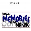 Magical Memories Title -  Printed Paper Piece