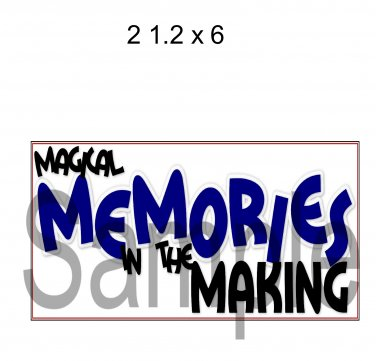 Magical Memories Title -  Printed Paper Piece