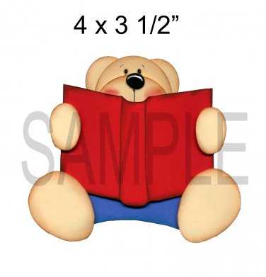 Storybook Bear -  Printed Paper Piece