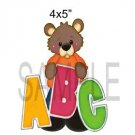ABC Bear -  Printed Paper Piece