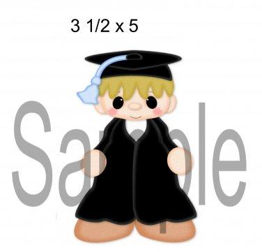 Graduation Boy left -  Printed Paper Piece