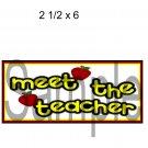 Meet The Teacher Title -  Printed Paper Piece