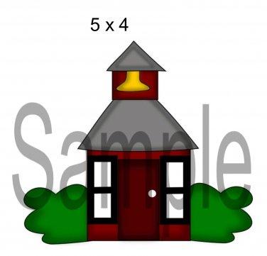 Schoolhouse 1 -  Printed Paper Piece