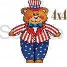 USA Boy Bear -  Printed Paper Piece
