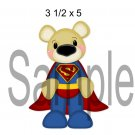 Superman Bear left -  Printed Paper Piece