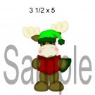 Christmoose Caroler 1 right -  Printed Paper Piece