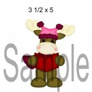 Christmoose Caroler 3 left -  Printed Paper Piece