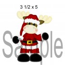 Christmoose Santa left -  Printed Paper Piece