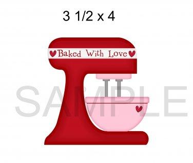 Valentine Baking 5 -  Printed Paper Piece